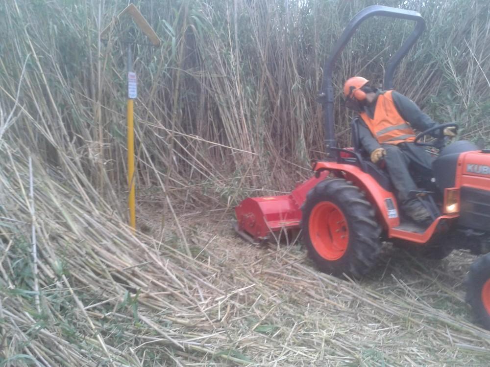Fauchage mécanique avec tracteur