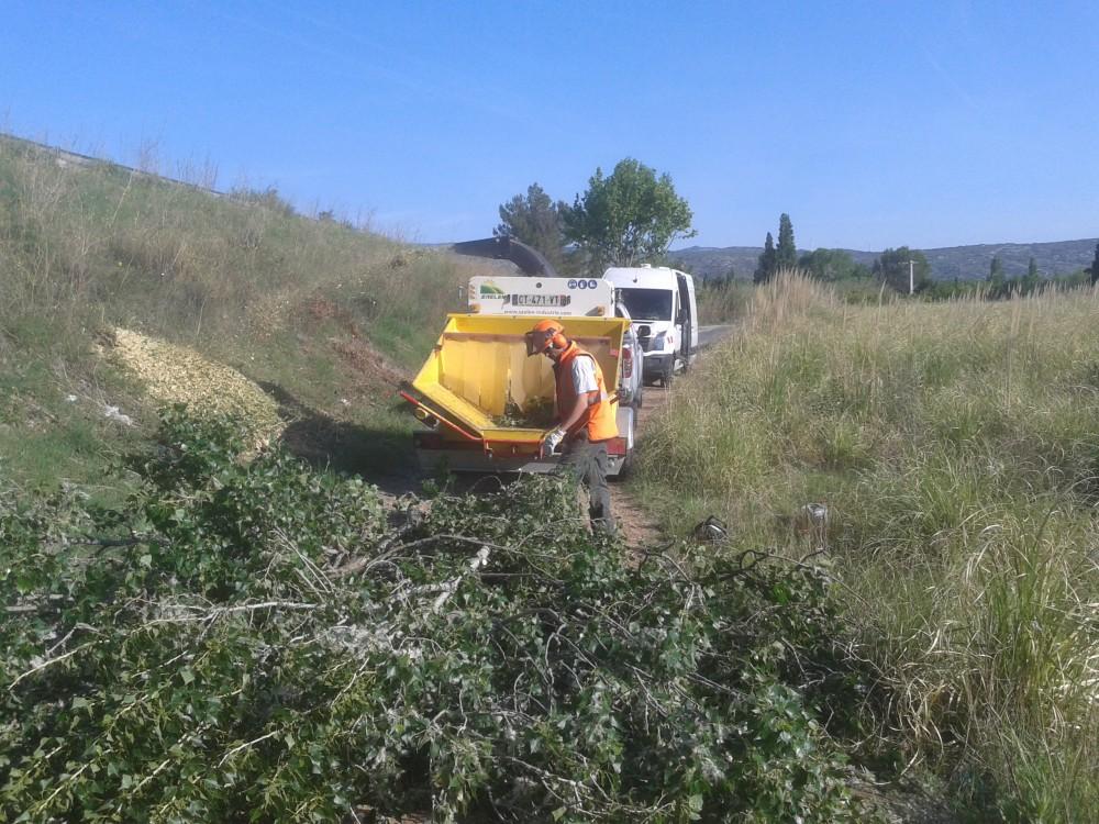 Broyage des déchets verts de coupe